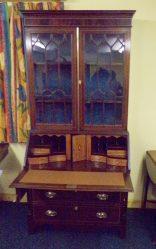 Edwardian Inlaid Mahogany Bureau Bookcase €1950