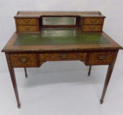 Edwardian Rosewood Inlaid Desk €1950