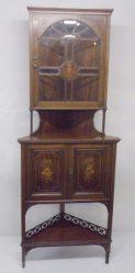 Edwardian Inlaid Mahogany Corner Cabinet €1150