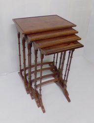 Inlaid Mahogany Nest Of Four Tables €695