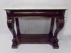 William IV Rosewood Console Table With Marble Top €2950