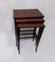 Edwardian Inlaid Mahogany Nest Of Three Tables €795