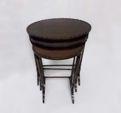 Edwardian Mahogany Nest Of Three Oval Tables €550