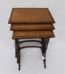 Edwardian Mahogany Nest Of Three Tables €695