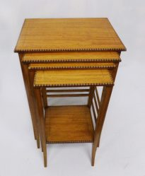 Edwardian Solid Satin Wood Nest Of Four Tables €1850