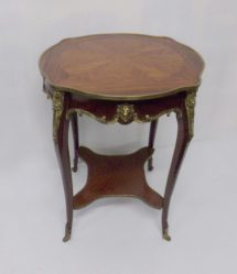 French Rosewood Table With Brass Mounts €495