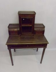 French Mahogany and Brass Inlaid Desk P.O.A