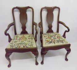 Pair Of Edwardian Mahogany Chairs €1195