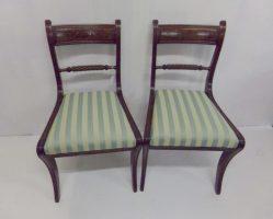 Pair Of Regency Mahogany Chairs €345