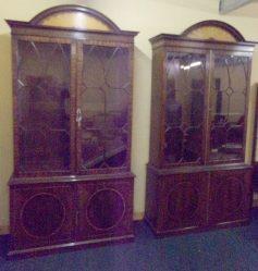 Pair Of Mahogany Bookcases €4950