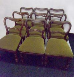 Set of Nine Victorian Mahogany Chairs €3250