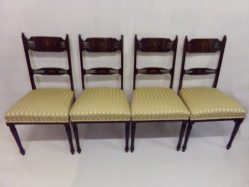 Set Of Four Edwardian Inlaid Mahogany Chairs €895