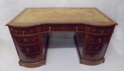 Stunning Edwardian Inlaid Mahogany Desk P.O.A