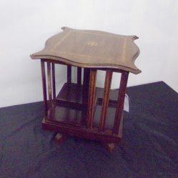 Edwardian Inlaid Mahogany Table Top Revolving Bookcase €495