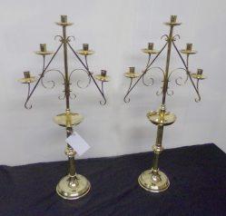 Pair Of Brass Candlesticks €395