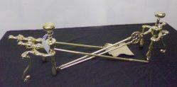 Victorian Brass Fire Irons & Dogs €195