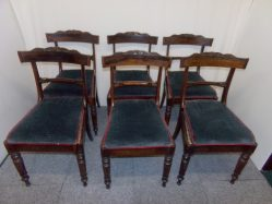 Set Of Six Rose Wood William IV Chairs P.O.A