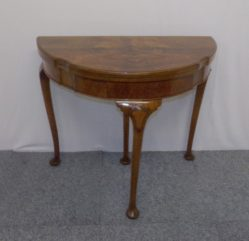 Edwardian Burr Walnut Card Table €495