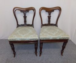 Pair Of Victorian Rose Wood Chairs €295