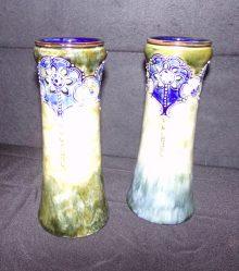 "Pair Of ""Royal Doulton"" Art Noveau Vases €245"