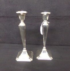 Pair Of Silver Candle Sticks €395