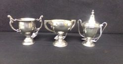 """Three """"Dublin"""" Silver Cups from €145"""