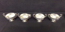 Set Of Four Silver Salts €150