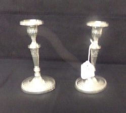Pair Of Silver Candlesticks €395