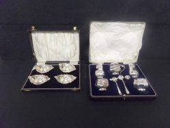 Set Of Four Silver Salts