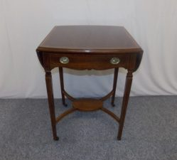 Delightful Edwardian Inlaid Mahogany Drop Leaf Table €695