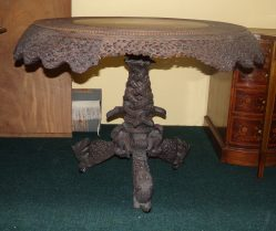Victorian Burmese Carved Table P.O.A